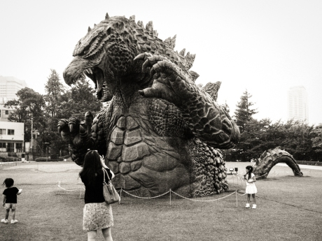 Godzilla! (spoiler alert: the little boy survives...)