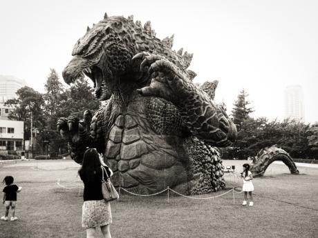Godzilla! (spoiler alert: the little boy survives...)