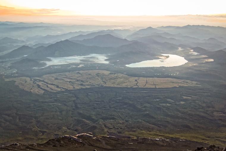 Kawaguchigoko Five Lakes, from Mount Fujisan