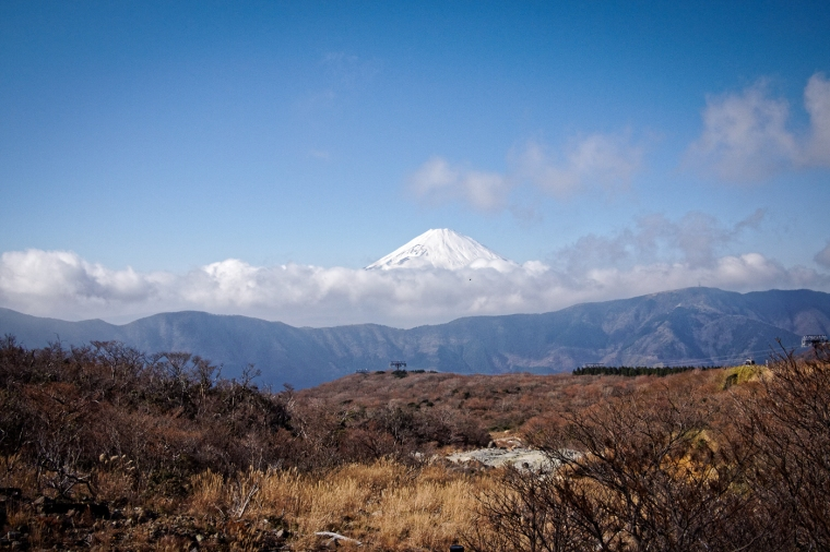 Fujisan, from Owakudani - Hakone