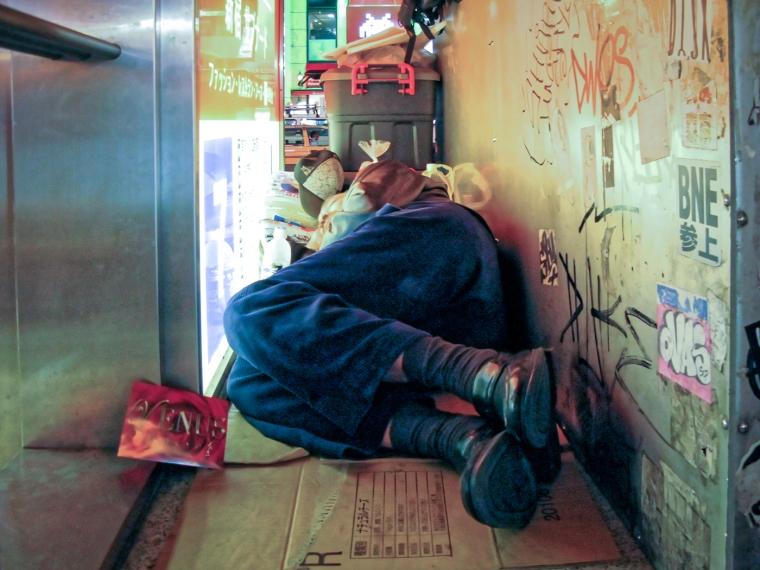 Homeless, Shinjuku 2008
