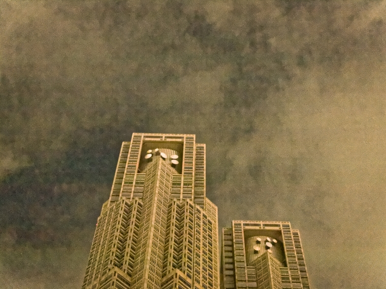 Shinjuku Skyscraper District at Night